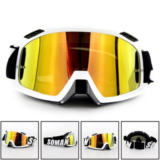 Harely Motorcycle Goggles,UV Protection Anti-Fog Skiing Motorbike Goggles Outdoor Off-Road Karting Motocross Glasses Mountain Moto Accessories