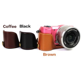 PU Leather Half Camera Case for sony ILCE-9 ILCE-7RM3 A73