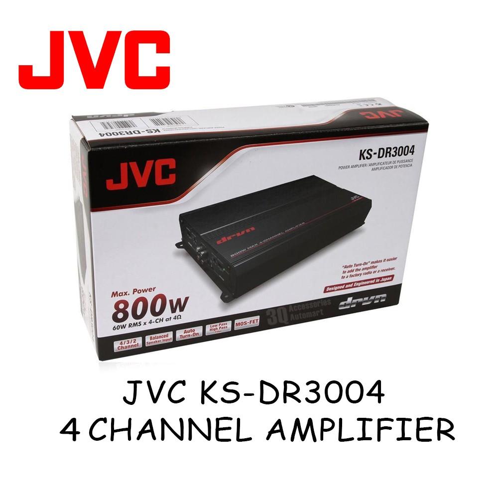JVC KS-DR3004 360W RMS 4-Channel DR Series Class-AB Car Amplifier Car Audio Amp