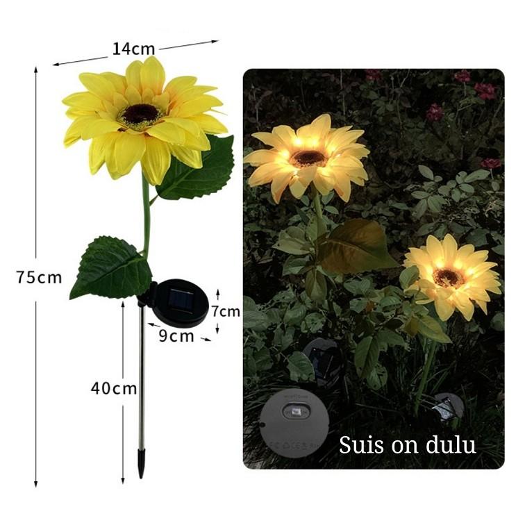 [ READY STOCK ]  Solar Power Sunflower Ground Simulation Lantern Fairy Light Outdoor Decoration Landscape Pelita Lampu