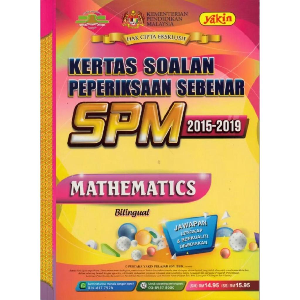 [TNY] Edisi 2020 - Past Year SPM (Mathematics) 2015 - 2019 [Kertas Soalan Pep. Sebenar SPM]