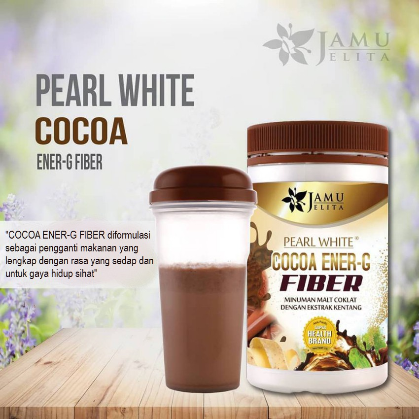 Jamu Jelita Cocoa Energy Fiber Shopee Malaysia