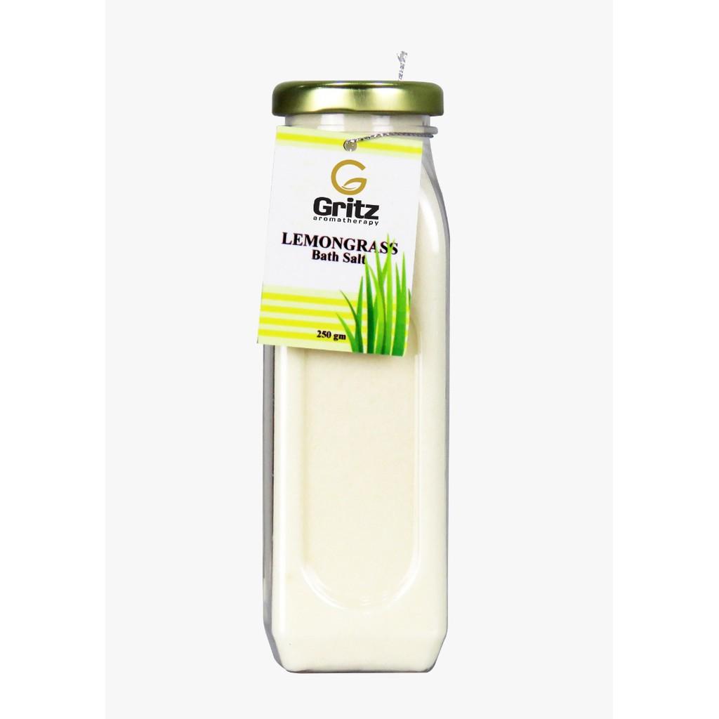 Therapeutic Bath Salt Lemongrass By GRITZ AROMATHERAPY (1 Bottle) [READY STOCK]
