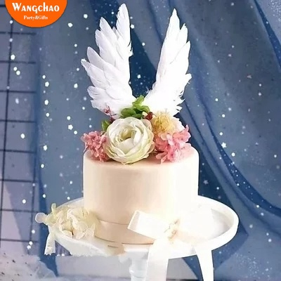 Awe Inspiring Feather Cake Topper Angel Wing Happy Birthday Cake Topper Baby Personalised Birthday Cards Epsylily Jamesorg
