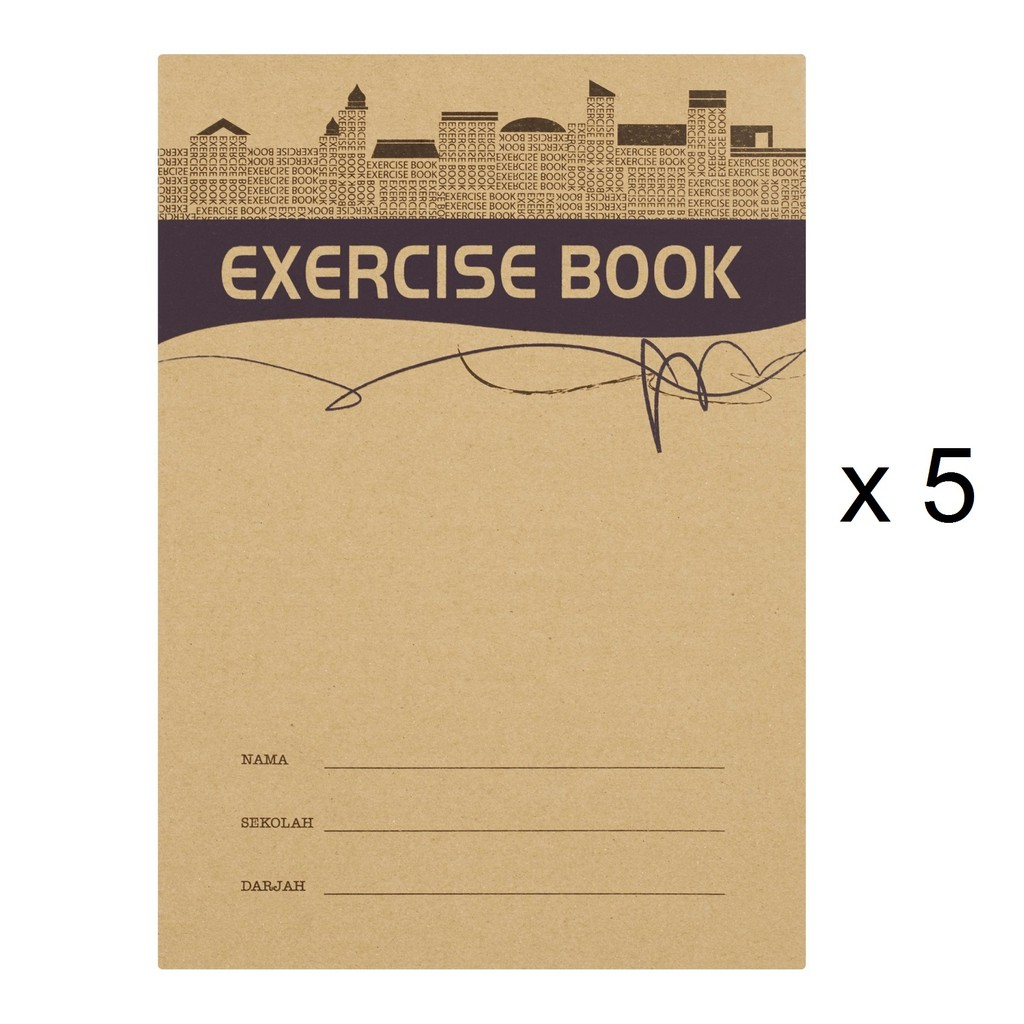 Up Classic Exercise Book CS0095 Kraft Cover (80's x 5)