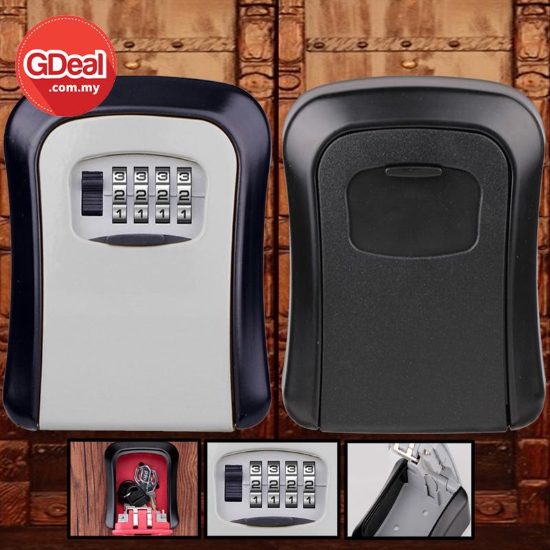 GDeal Wall Mounted Metal Key Box 4 Digit Code Combination Password Key Locker Secure Safe Lock Box
