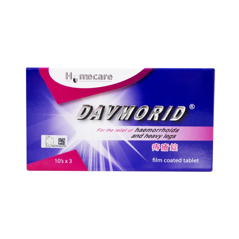 DAVMORID TAB 10\'s / 30\'s ( Piles & varicose vein)