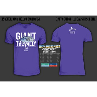 GIANT TREVALLY Catch and Release tshirt 100/% Cotton Gildan saltwater popper rod