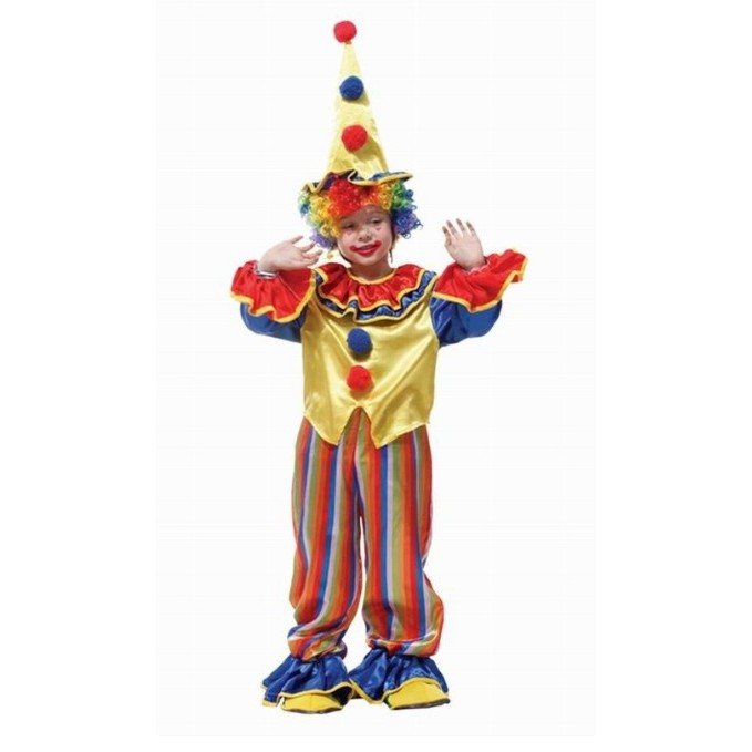 Halloween Stage Game Performances Cosplay Costume Children Amusing Clown Outfit