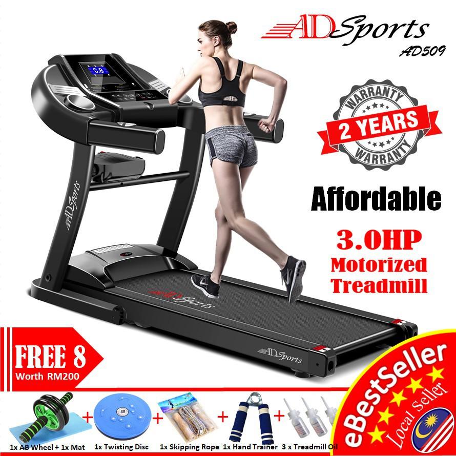 3.0HP ADSports AD509 Home Exercise Gym Fitness Electric Motorized Treadmill Mesin Lari 跑步机