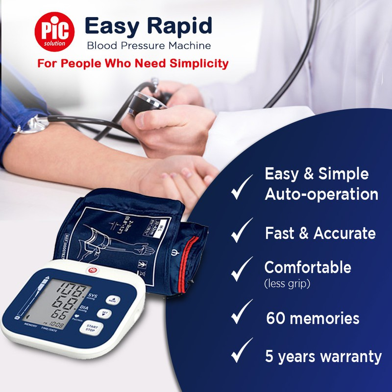 【#1 CHOICE】PIC Solution Easy Rapid Arm Blood Pressure Monitor 5 Years Warranty