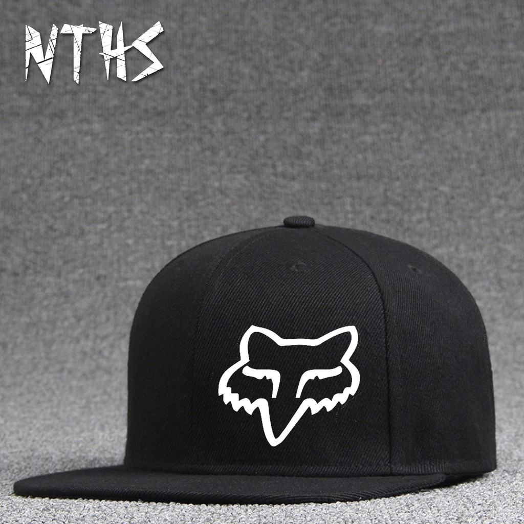 Unisex Fox Racing Logo Adjustable Mesh Baseball Hats Caps Black