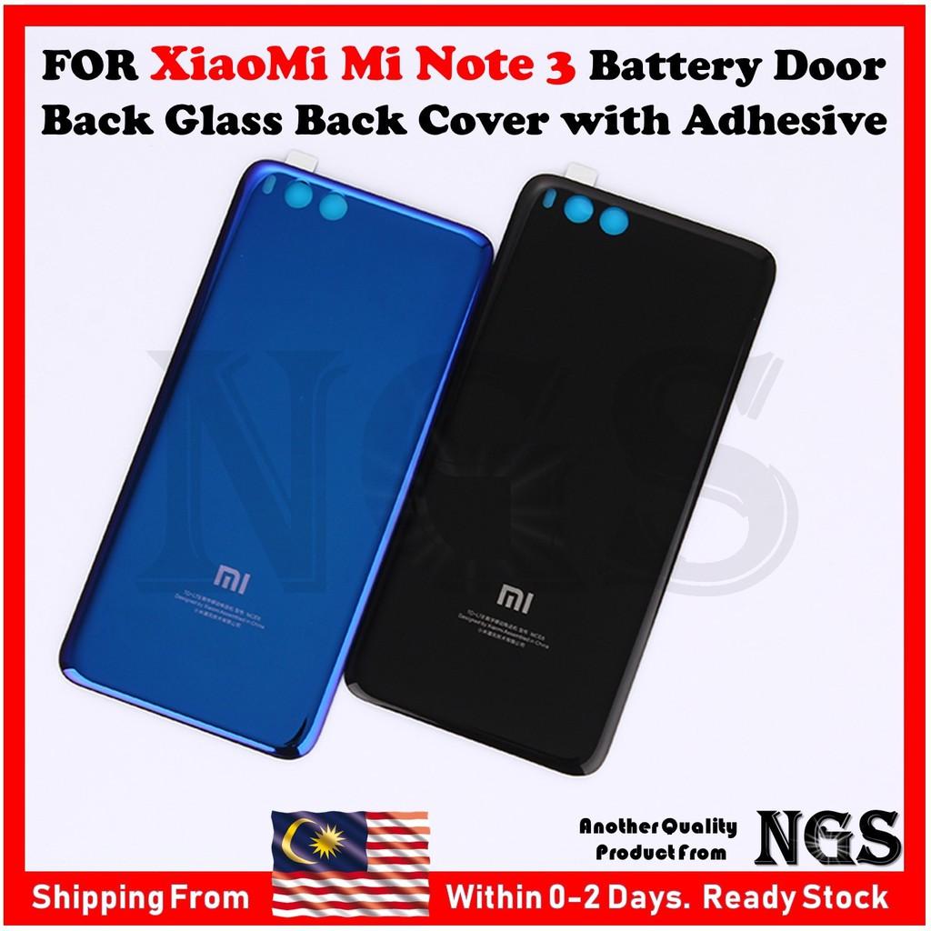 Xiaomi Mi Note 3 Glass Back Cover Case Phone Mi Note3 Battery Cover Houising | Shopee Malaysia