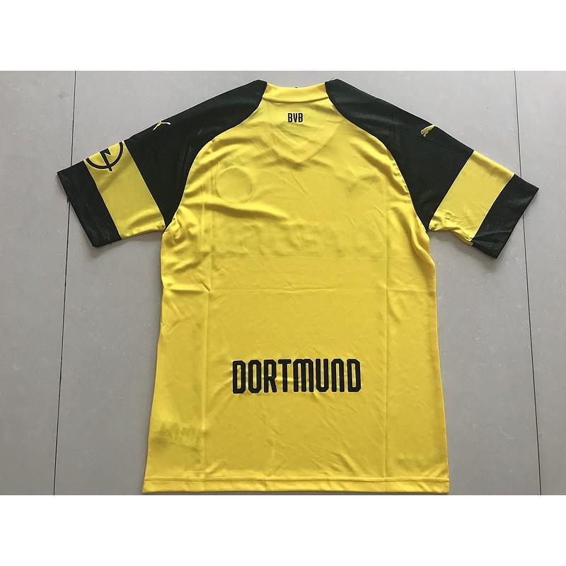 113e14661 ProductImage. 2018/19 Borussia Dortmund Home Soccer Jersey Football Short Sleeve  Men Shirt