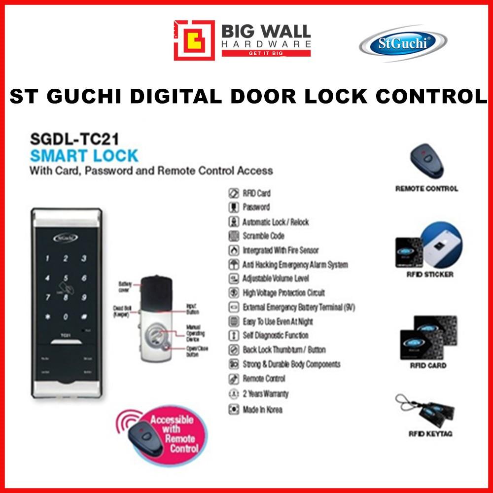 ST GUCHI TC 21 DIGITAL DOOR LOCK CONTROL (Free Luggage Padlock)
