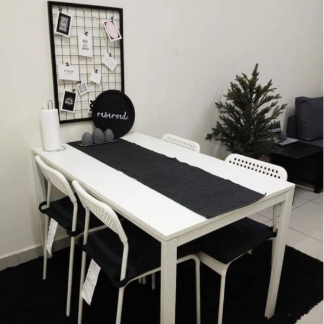 Sold Ikea Dining Table Set Melltorp Shopee Malaysia