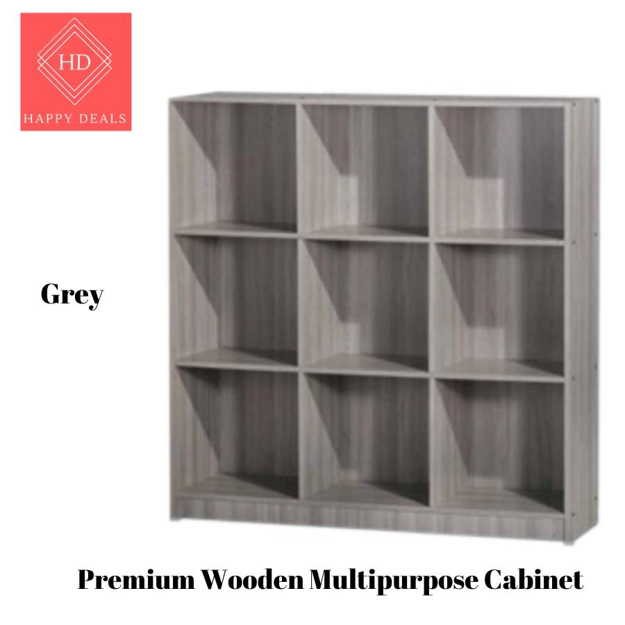 DIY Premium Multipurpose Multi-compartments Storage Cabinet/ File Cabinet/ Rak Buku/ Rak Simpanan 书橱 储物柜 衣橱 (SU 832)