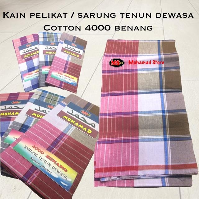 Kain Pelikat / Sarung Tenun Dewasa Cotton 3000 Benang