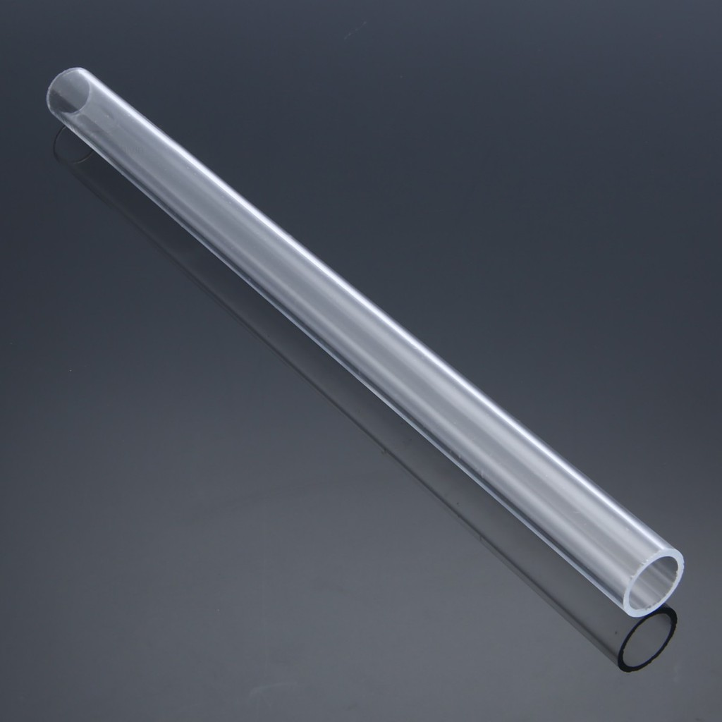 US Stock 2pcs 25mm OD 15mm ID 250mm Long Clear Acrylic Plastic Lucite Tube Pipe