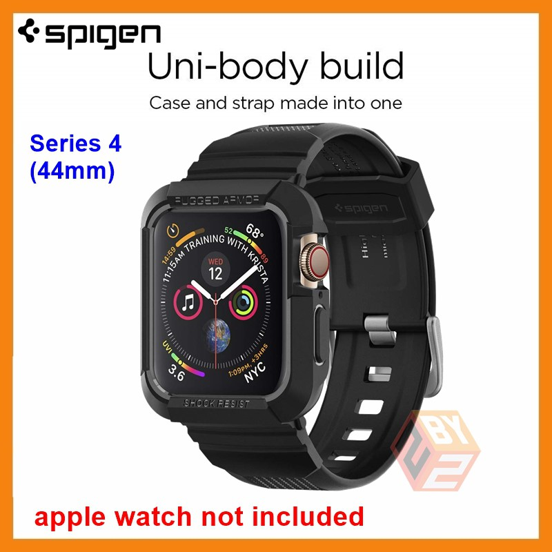 SPIGEN RUGGED ARMOR PRO CASE WITH BAND FOR APPLE WATCH SERIES 4 44mm [ORIGINAL) | Shopee Malaysia