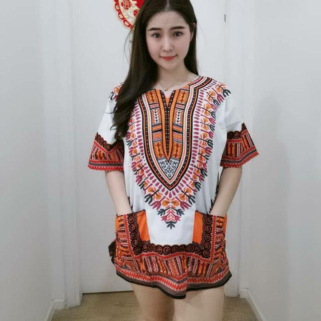 African design top 民族风上衣 Batik shirt
