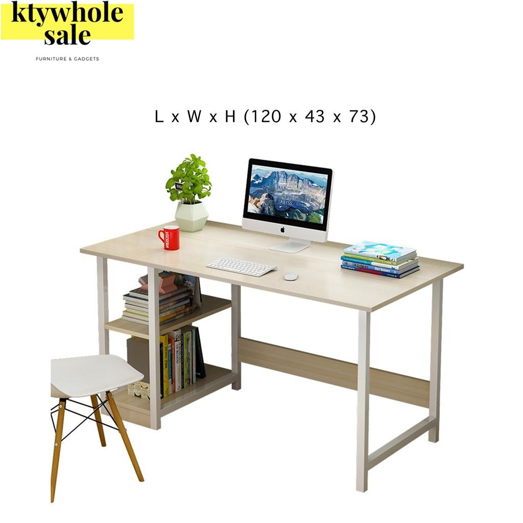 KTY meja study/meja komputer/meja belajar budak/meja belajar/table study/study table/study table with shelf/(120CM)