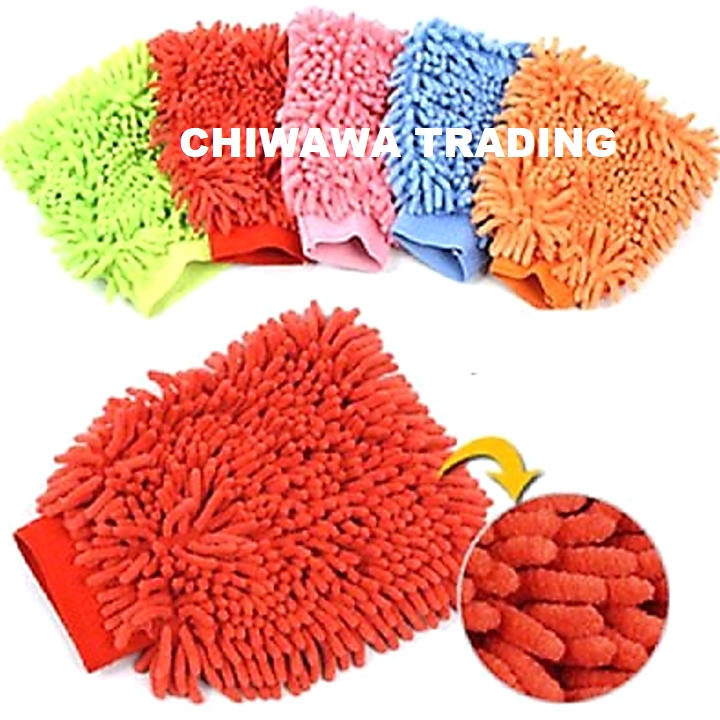 Microfiber Glove Car Vehicle Household Washing Cleaning Towel Cloth Chenille Duster Hand Gloves Mitt Tuala Sarung Tangan