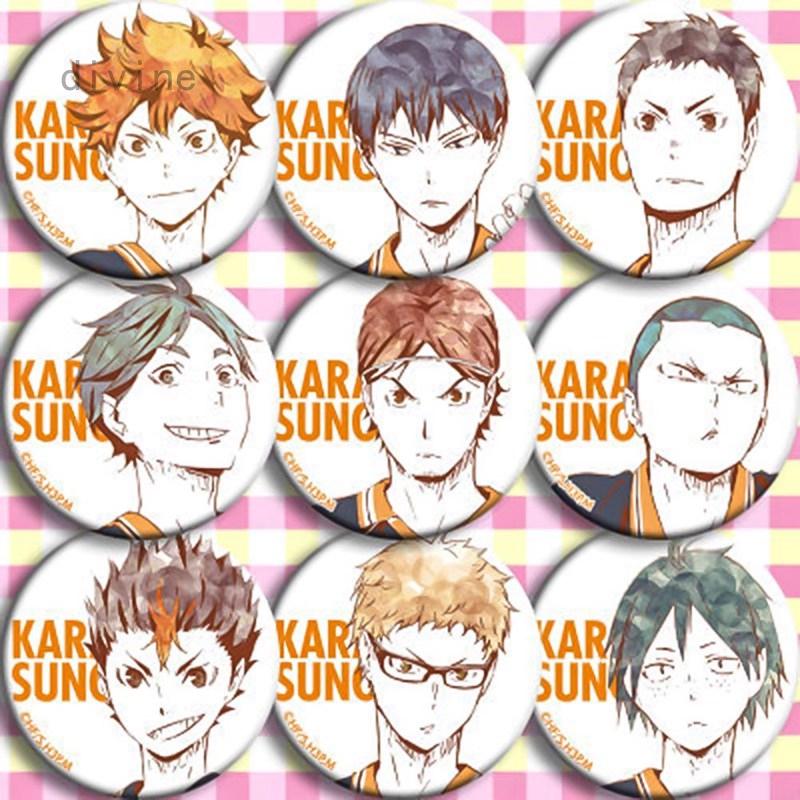 1pcs Manga Haikyuu!! Cosplay Badges Hinata Shoyo Brooch
