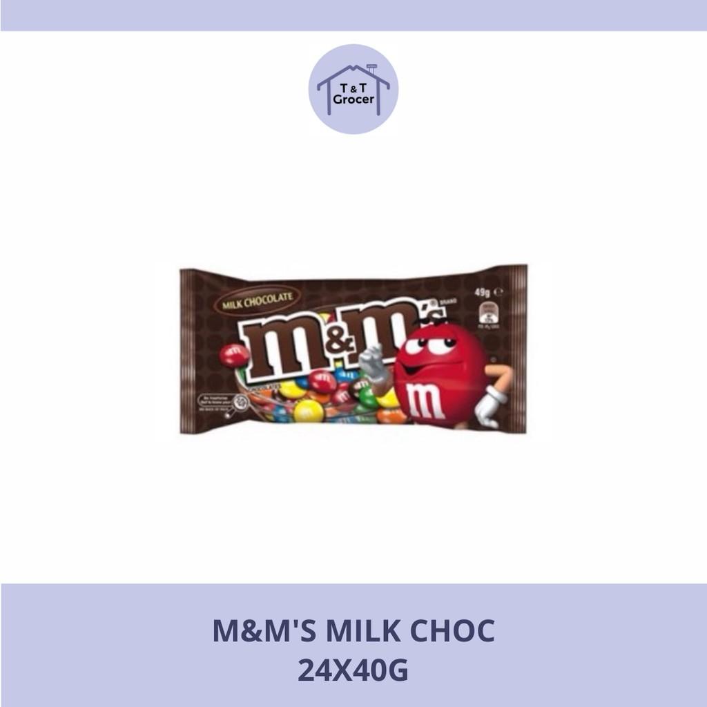 M&M's 24x40g (Susu Coklat/ Kacang)