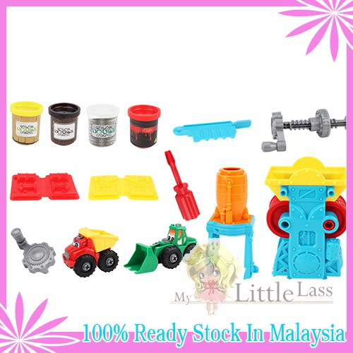 COLOR DOUGH SERIES 28pcs Ice Cream Shop Dough Table Set Craft Clay Kids Set Toys for Kids