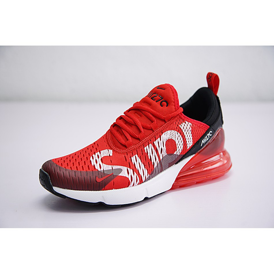 new concept 04b6c 6ffc1 Nike Air Max 270 x Supreme Shoes Men Airmax 27c Running Shoes Sport  Sneakers Red