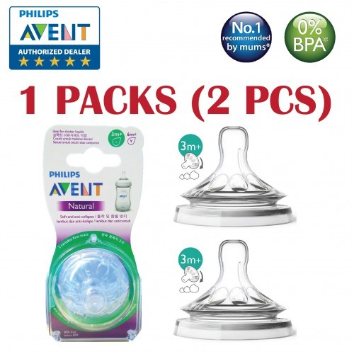 Philips AVENT Natural 2.0 Slow Flow Teat for 0m+ (2 Packs) SCF651/23-2 | Shopee Malaysia