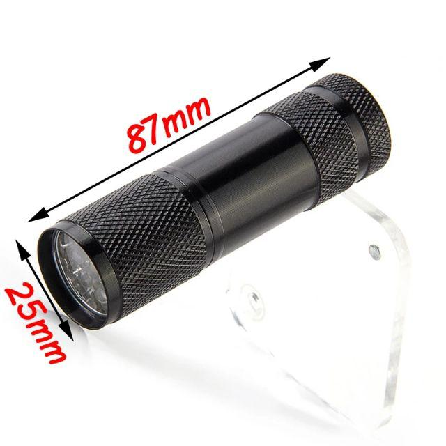 [ READY STOCK ]  9 LED UV Flashlight Ultra Violet Purple Torch LED Black light UV Lamp Money Detection Lampu Suruh
