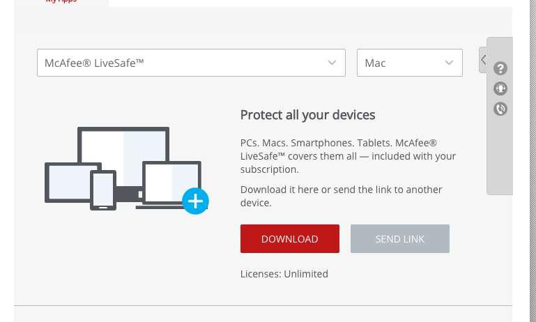 McAfee Livesafe 2019 - Unlimited Device - Download - Windows