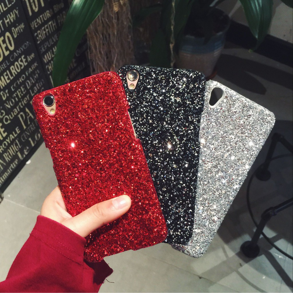 ins Fashion Flashing Quicksand Murah Phone Case VIVO Y91 Y95 V9 V7 V7 Plus  V7+