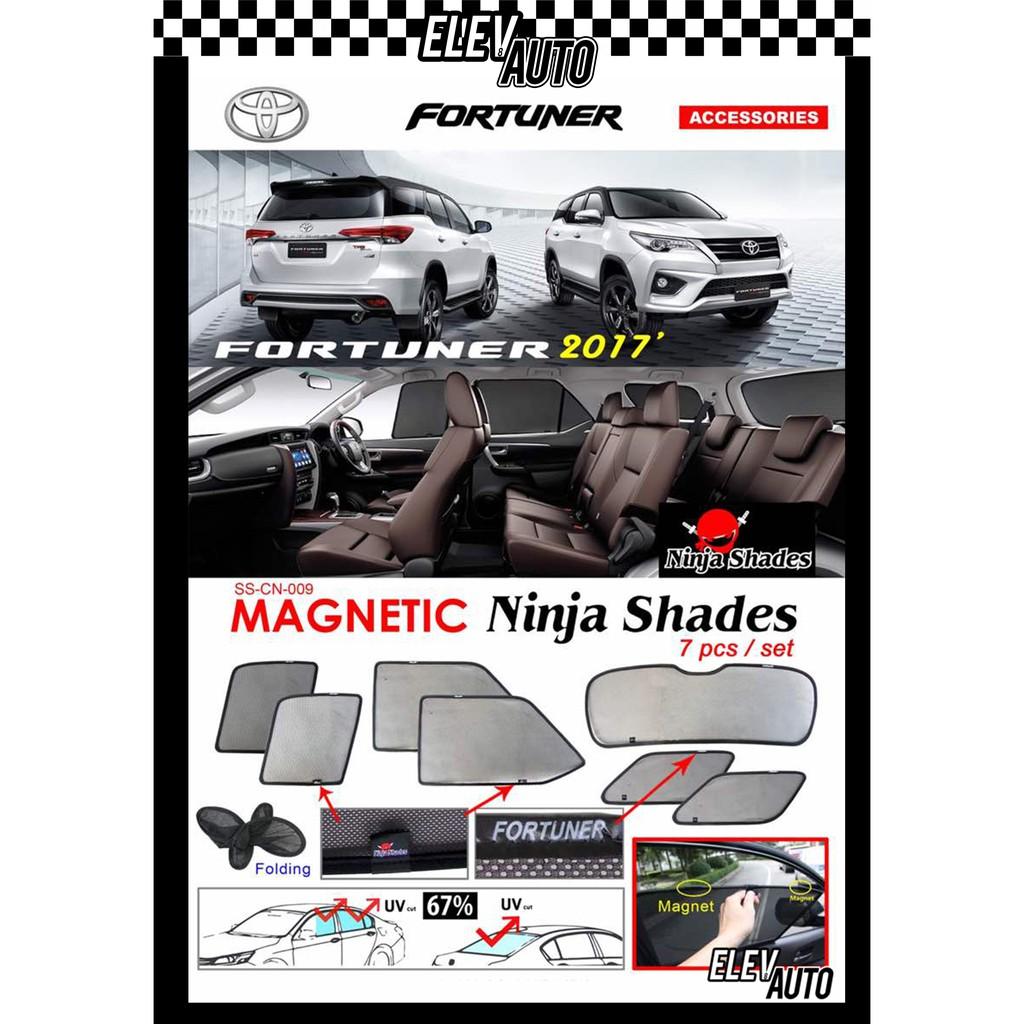 Toyota Fortuner 2016 - 2021 Ninja Shades OEM Magnetic Sunshade Fortuner Accessories 2017 2018 2019 2020