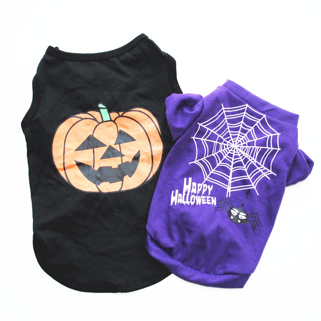 Cat🐶 Dog 🐶 Shirts Halloween Costume Cute Cartoon Clothes For puppy dog & Cat Costume Dress Halloween apparel for kitty