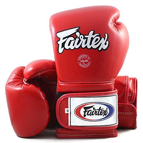 FAIRTEX GLOVES MUAY THAI KICK BOXING MMA BGV9 RED COLOR PRO TRAINING MEXICAN