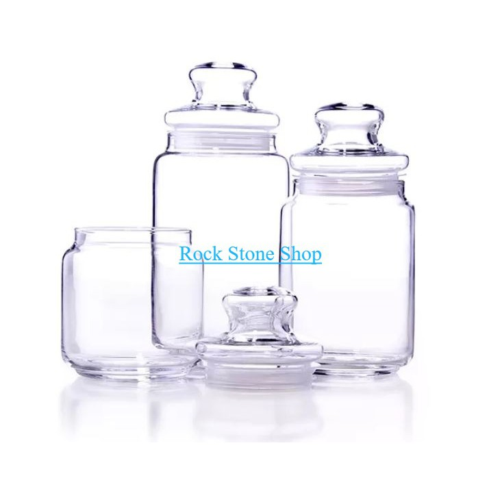 Airtight Storage Glass Jar For Spice Sweet Snacks Food Container | Balang Kaca Kedap Udara Kuih Raya | 密封储存玻璃罐