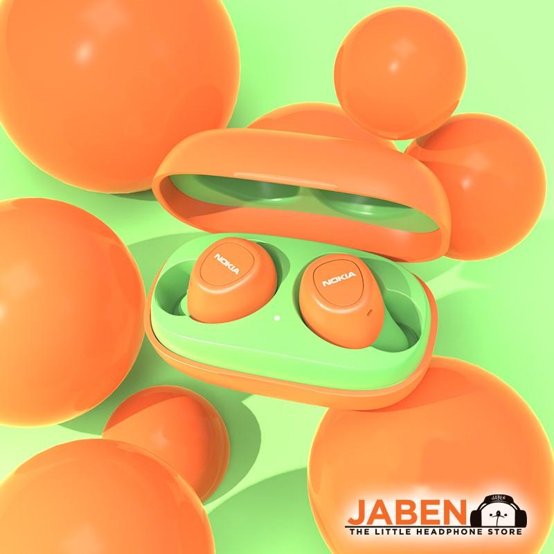 Nokia E3100 Colorful IPX3 Waterproof Snug Fit Bluetooth 5.0 USB Type-C  TWS True Wireless In-Ear Earphones [Jaben]