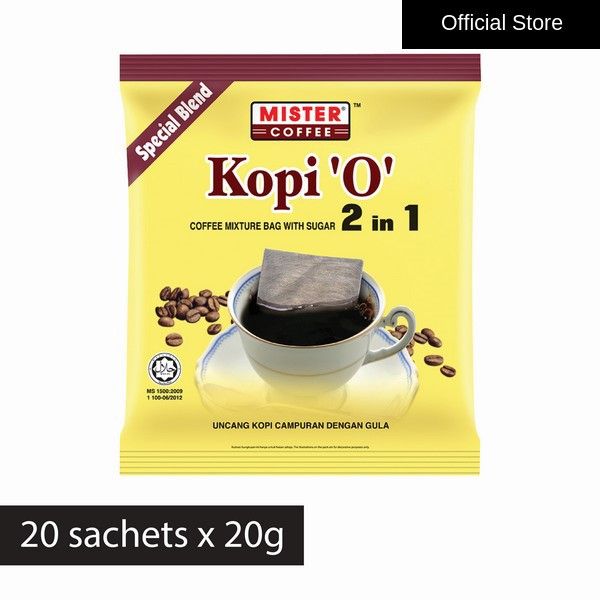 [Mister Coffee] Kopi 'O' Coffee Bag 2 in 1 Special Blend (20g x 20's)
