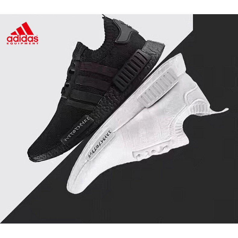 QD[Free Shipping] original Adidas nmd japan all white black warrior