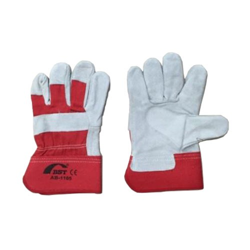 """BST 10.5"""" Rubberized Cuff Leather Hand Glove Heavy Duty"""
