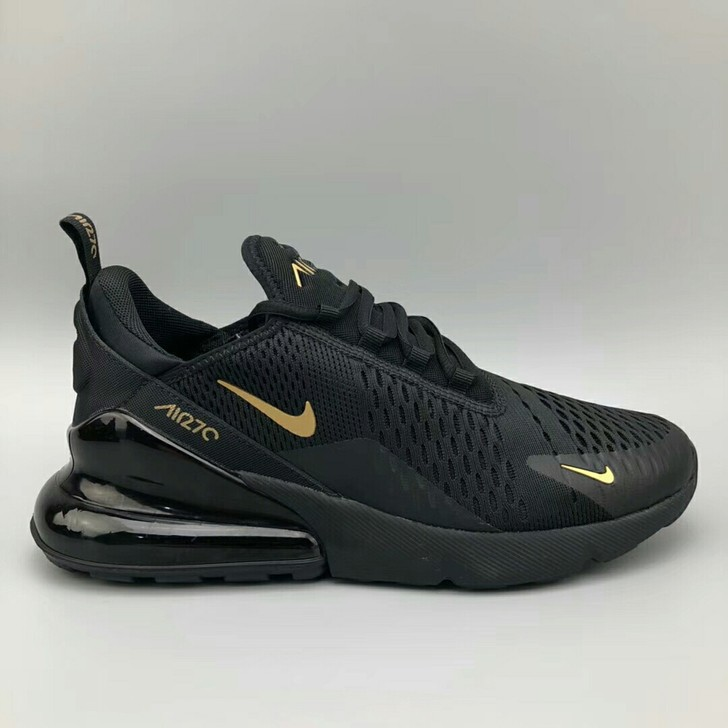 best sneakers 1b235 4bc5e NIKE AIR MAX 270 Men's Sports Running Shoes Black-Yellow