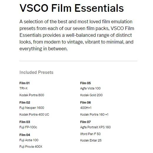 VSCO Film Pack 01-07 Lightroom Presets +ACR | Shopee Malaysia