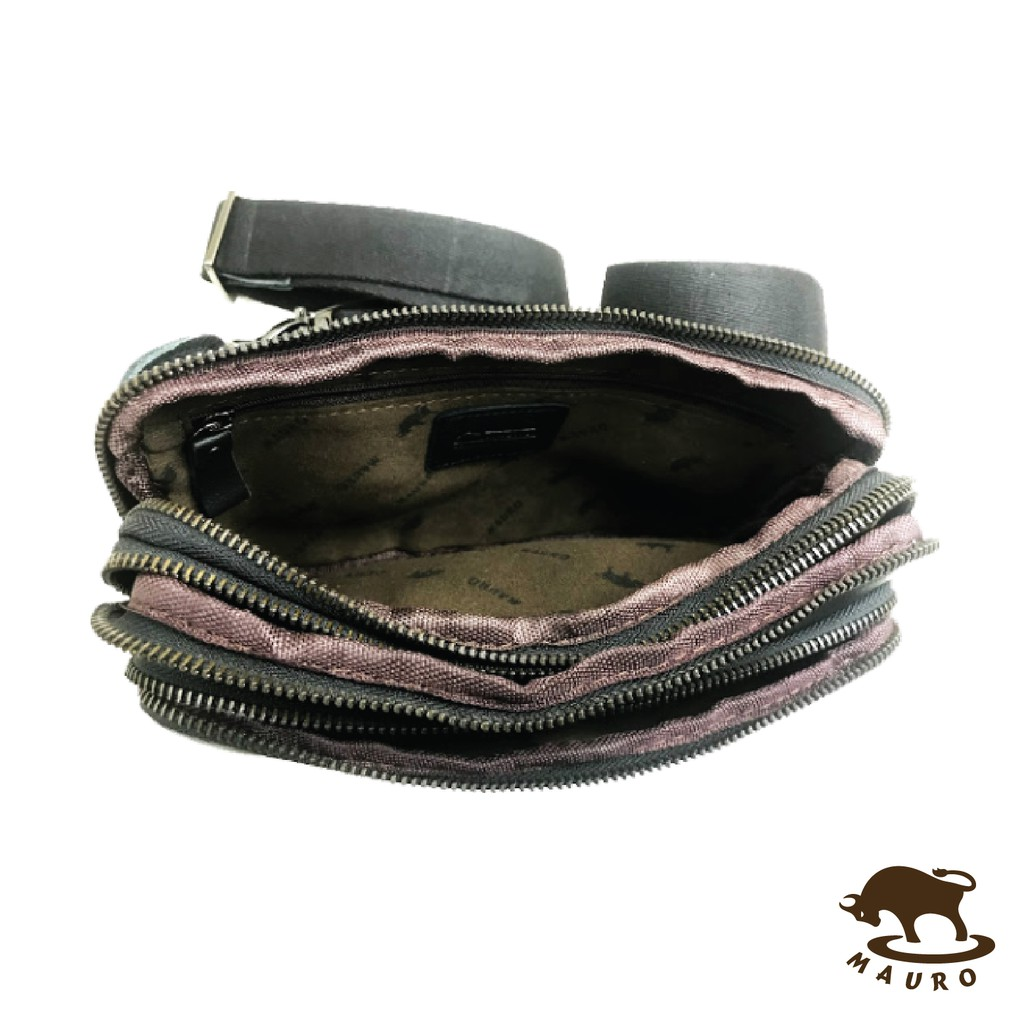 💼 2 in 1 Mauro Men Casual Genuine Leather Crossbody Men Chest Bag & Men Waist Bag