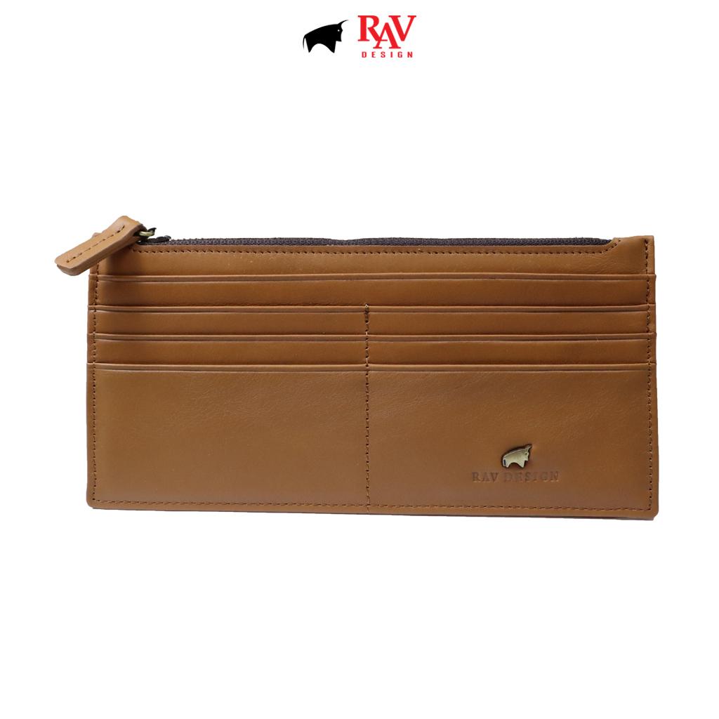 RAV DESIGN Men's Genuine Leather Anti-RFID Card Holder Wallet |RVW673G3 (D)