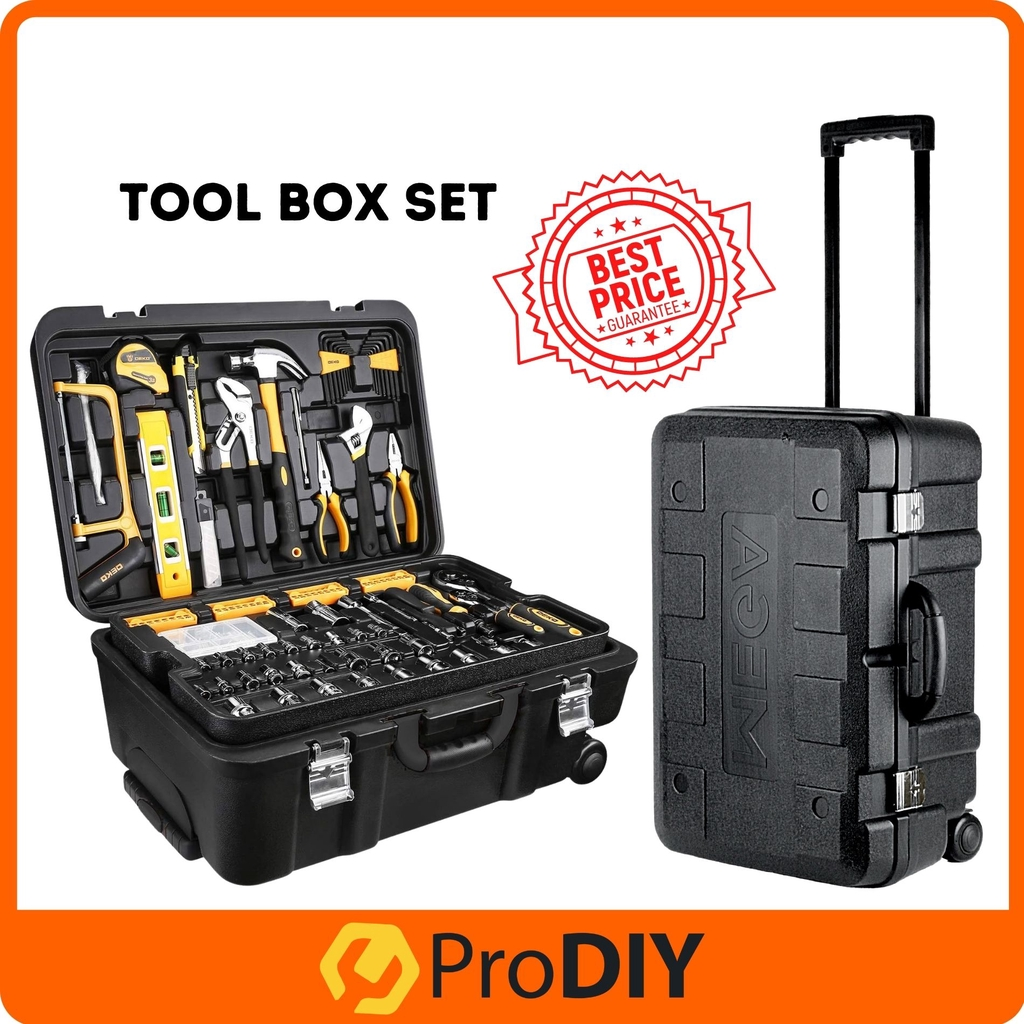20 Piece Tool Kit with Rolling Tool Box Socket Wrench Hand Tool ...