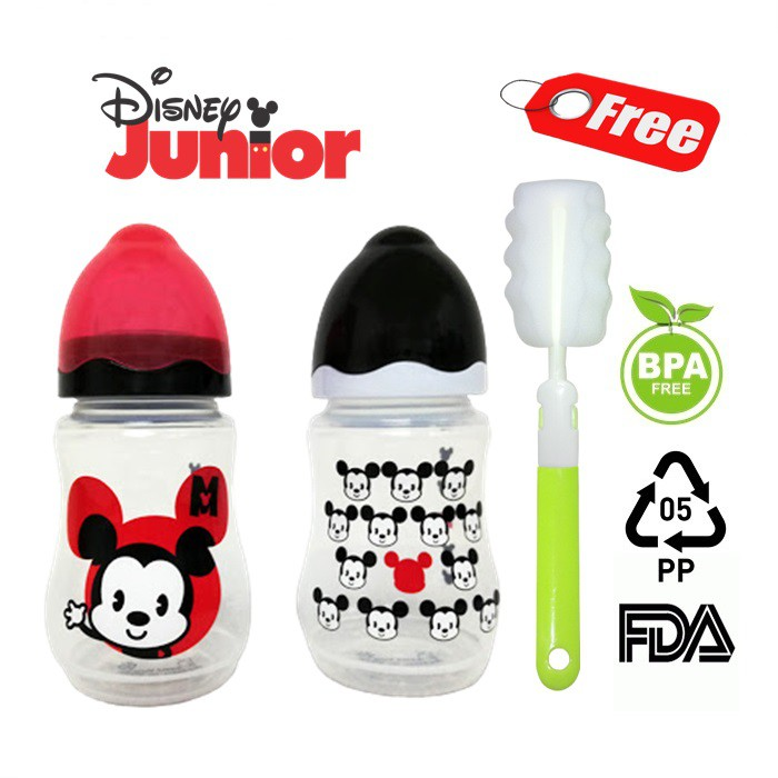 Disney Baby Mickey Limited Edition 9oz Wide Neck Milk Bottle  [Twin Pack]