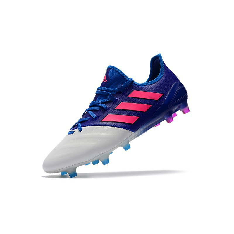 adidas ACE 17.1 Leather FG blue white lether mens low soccer football shoes39 45